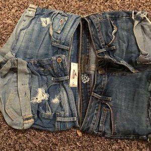3 Two shorts Hollister and Billabong bundle